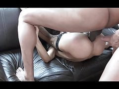 Perfect Whore Takes 2 Cocks Inside her Ass