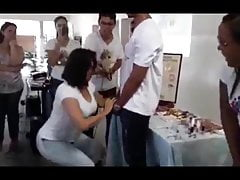 Teacher teaches her students how to give a blow job. No joke