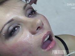 Premium Bukkake - Michelle swallows 74 huge mouthful cumshot