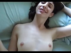 horny skinny small tits chick fucked and facial