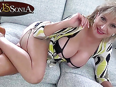 Aunt Sonia is turned on by you edging yourself