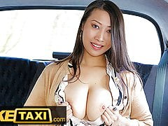 Fake Taxi, Busty French Asian babe tries big euro cock