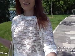 All women need that skirt. Jeny Smith flashing pussy in park