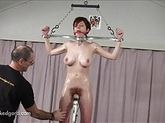 Hairy Bush Redhead On Fuck Pole And Spanked