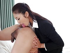 Japanese secretary, Reiko Kobayakawa came, uncensored