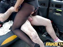 Fake Taxi, Backseat anal fuck and big facial for hot British girl