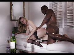 MONA WALES in stockings gets fucked by a big cock